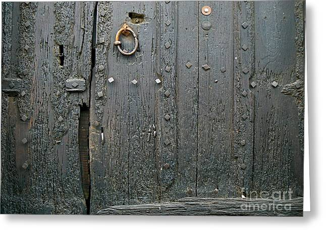 Artisan Made Greeting Cards - The Old Door Greeting Card by France  Art