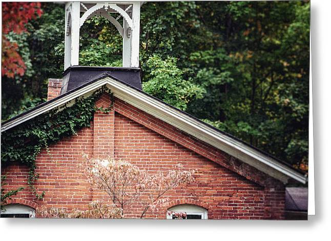 The Old Erie Schoolhouse Greeting Card by Lisa Russo