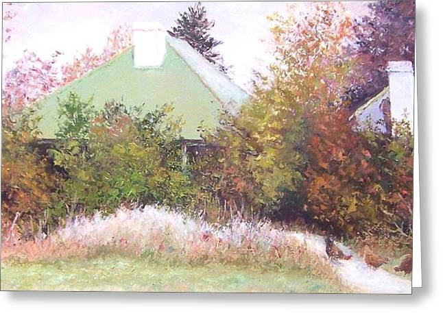 Country Cottage Greeting Cards - The Old Farm House Greeting Card by Jan Matson
