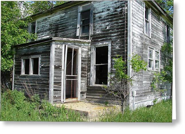 Screen Doors Greeting Cards - The Old Farm House Greeting Card by ML Boe
