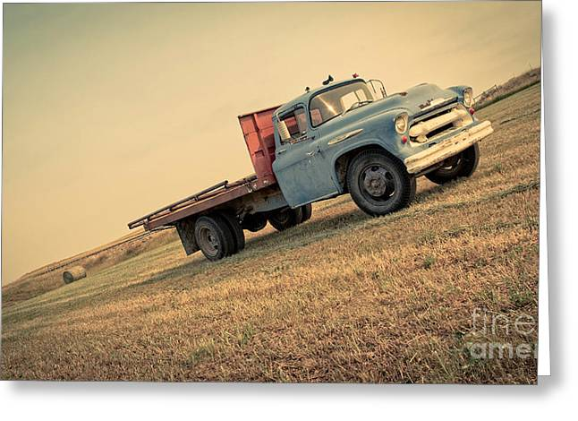 Montana Mountains Greeting Cards - The Old Farm Truck Greeting Card by Edward Fielding