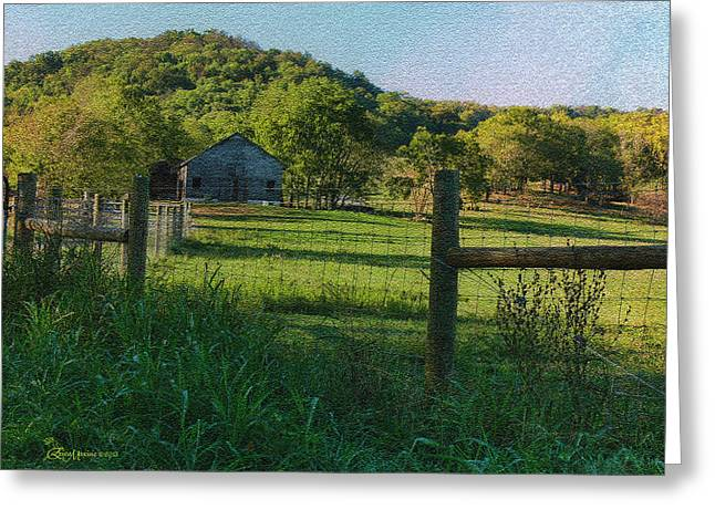 Tn Mixed Media Greeting Cards - The Old Farmhouse-Featured  in Barns Big and Small-Nature Photography-ComfortableArt-Beauty Captured Greeting Card by EricaMaxine  Price