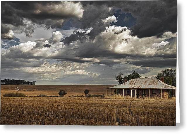 Afternoon Light Greeting Cards - The Old Farmstead Greeting Card by Leah Kennedy