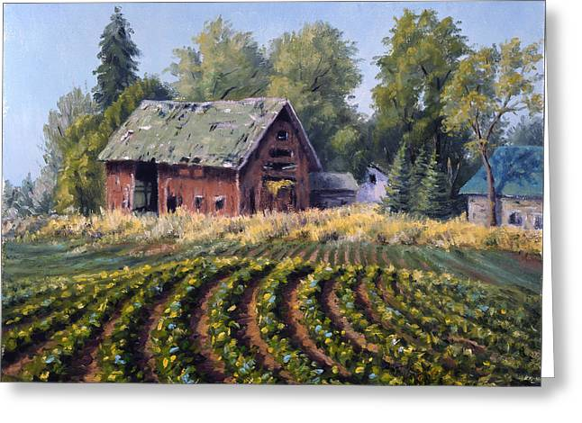 Award Greeting Cards - The Old Farmstead Greeting Card by Rick Hansen