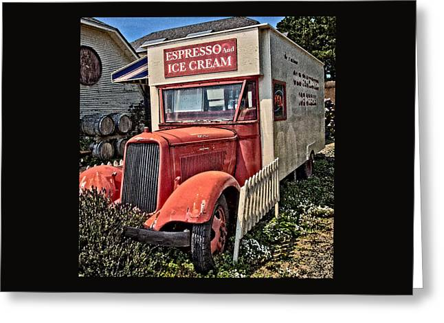 Old Truck Greeting Cards - The Espresso And Ice Cream Truck Greeting Card by Thom Zehrfeld