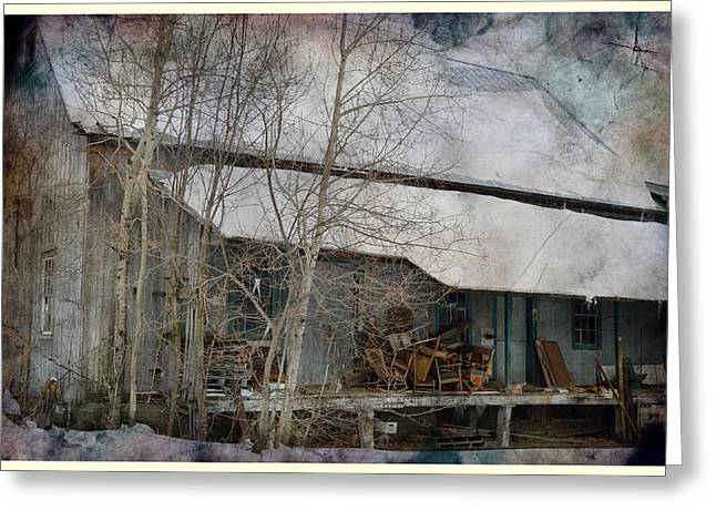 Old Feed Mills Photographs Greeting Cards - The Old Feed Mill Greeting Card by Cynthia Nichols