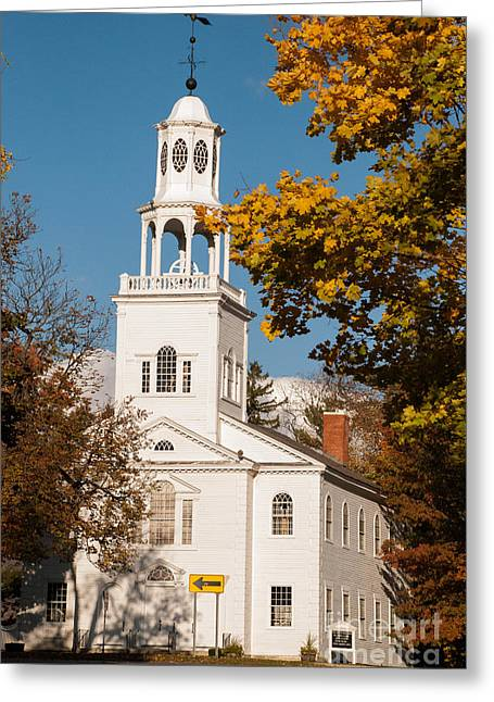 Geobob Greeting Cards - The Old First Church Battle Monument Hill Bennington Vermont Greeting Card by Robert Ford