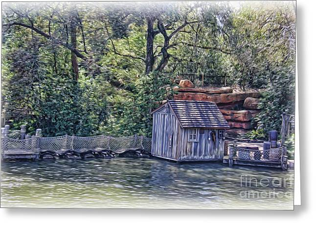 Netting Greeting Cards - The Old Fishing Shack Greeting Card by Lee Dos Santos