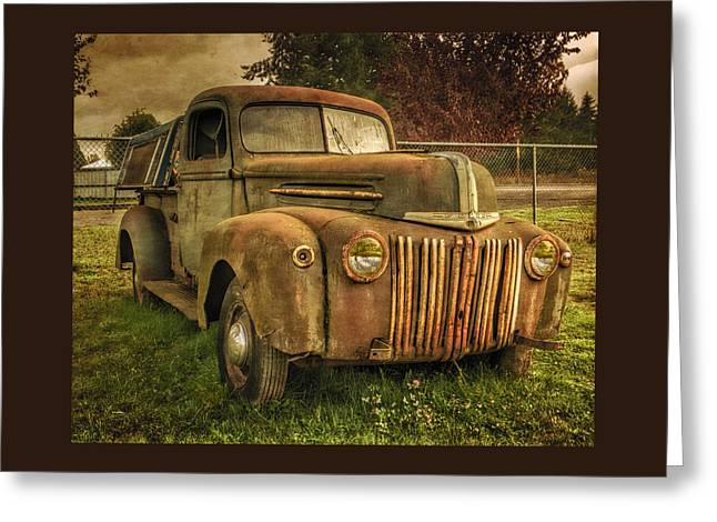 Old Truck Greeting Cards - The Old Ford Pickup Truck Greeting Card by Thom Zehrfeld