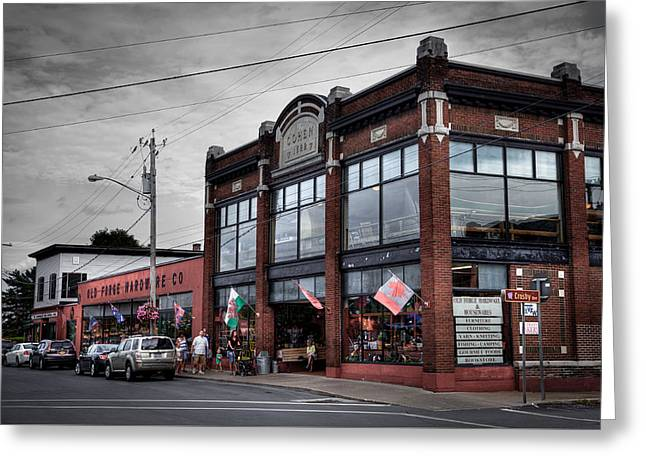 The Old Forge Hardware Company - Old Forge New York Greeting Card by David Patterson