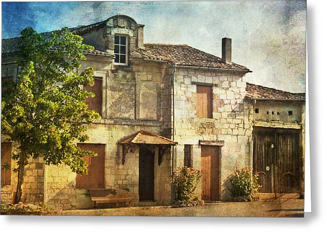 The Old French House Greeting Card by Georgia Fowler