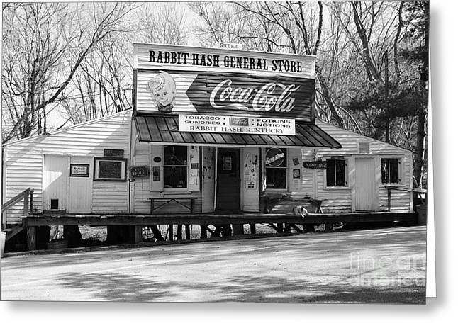 The Old General Store Bw Greeting Card by Mel Steinhauer
