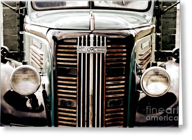 Old Trucks Digital Greeting Cards - The Old GMC Greeting Card by Steven  Digman
