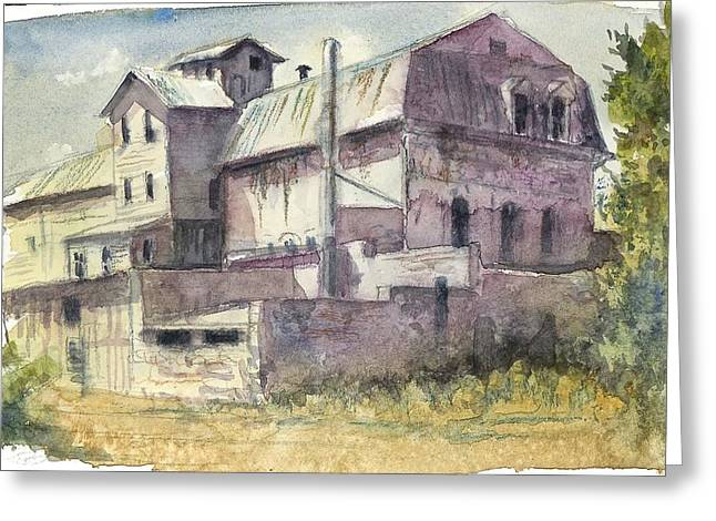 Historic Site Greeting Cards - The Old Grain and Feed Store Greeting Card by Victoria Lisi