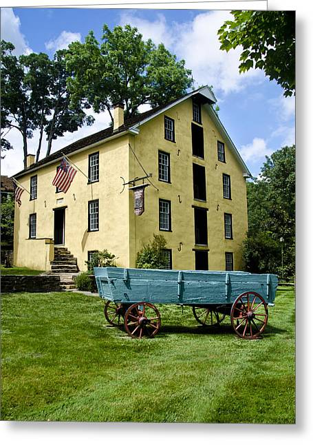 Grist Mill Digital Art Greeting Cards - The Old Grist Mill near Valley Forge Greeting Card by Bill Cannon