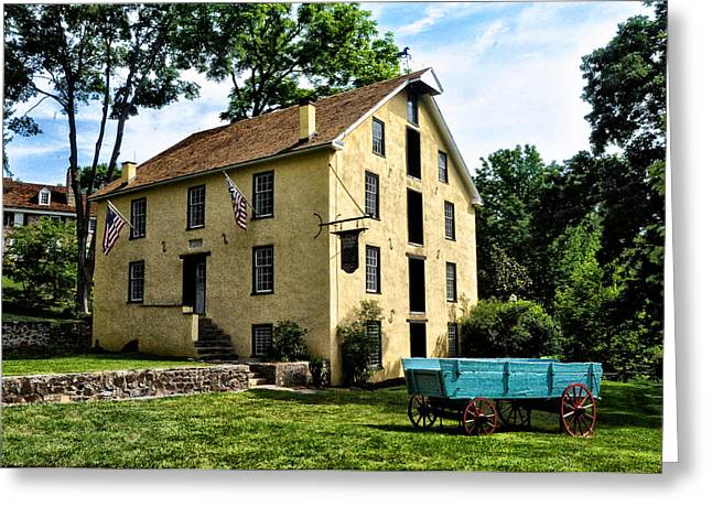 Grist Mill Digital Art Greeting Cards - The Old Grist Mill  Paoli Pa. Greeting Card by Bill Cannon
