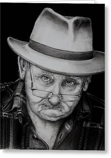 Old Man With Hat Greeting Cards - The Boss Greeting Card by Jean Cormier