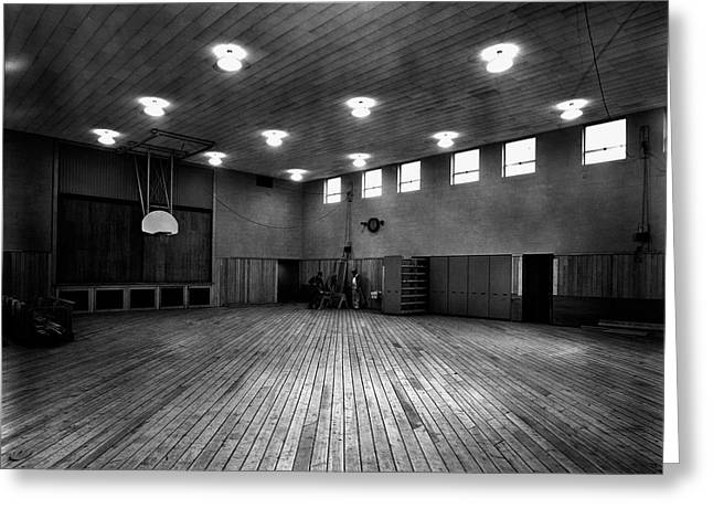 Oak Ridge Greeting Cards - The Old Gym Greeting Card by Mountain Dreams