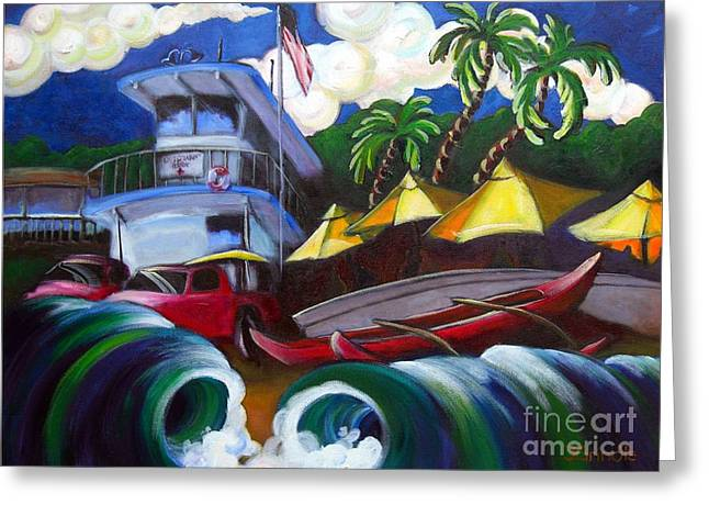 Canoe Paintings Greeting Cards - the Old Headquarters Greeting Card by Jerri Grindle