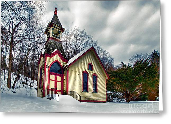 The Old Hewitt Methodist Church Greeting Card by Mark Miller