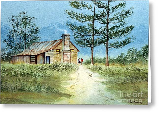 The Agricultural Life Greeting Cards - The Old Homestead Greeting Card by Bill Holkham