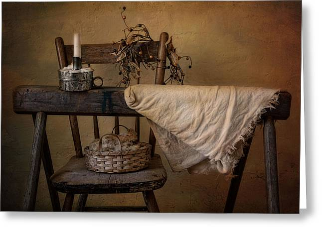 Candleholder Greeting Cards - The Old Horse Greeting Card by Robin-lee Vieira