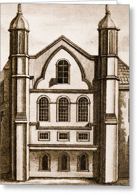 Facades Drawings Greeting Cards - The Old House Of Commons Greeting Card by English School