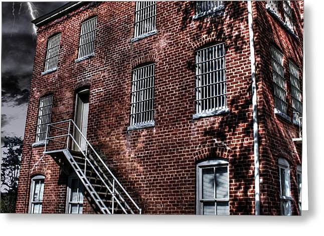 The Old Jail Greeting Card by Dan Stone