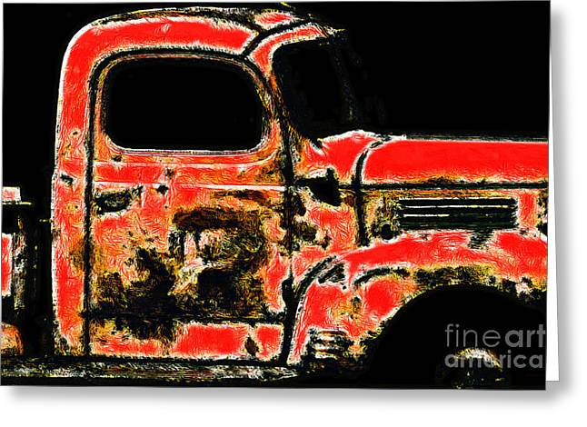 Backroads Digital Greeting Cards - The Old Jalopy 7D22382 Greeting Card by Wingsdomain Art and Photography