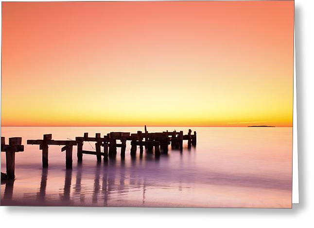 An Greeting Cards - The Old Jetty Greeting Card by Leah Kennedy