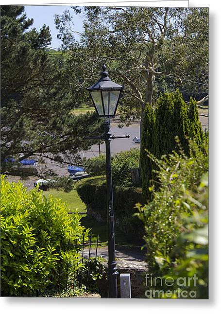 Old Inns Photographs Greeting Cards - The old Lamp Greeting Card by Brian Roscorla