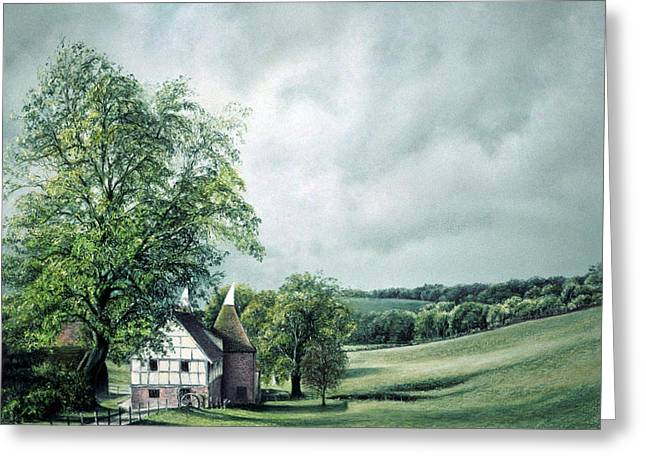 Farming Pastels Greeting Cards - The Old Lime Tree Greeting Card by Rosemary Colyer