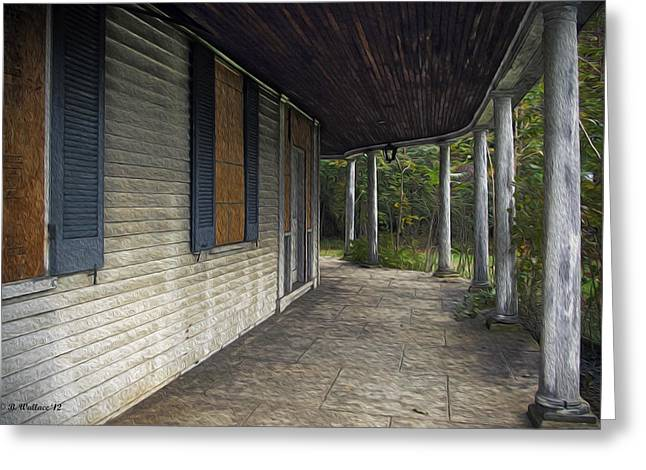 Old Home Place Digital Greeting Cards - The Old Lowman House Greeting Card by Brian Wallace