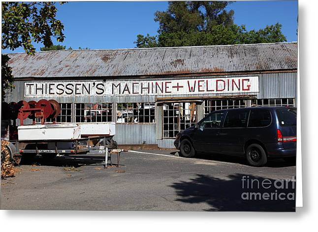 Work Area Greeting Cards - The Old Machine and Welding Shop Pleasanton California 5D23980 Greeting Card by Wingsdomain Art and Photography