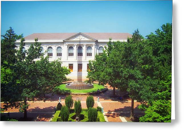 Arkansas Greeting Cards - The Old Main - University of Arkansas Greeting Card by Mountain Dreams