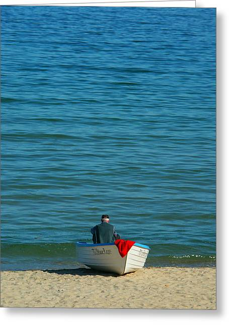 Old Man And The Sea Greeting Cards - The Old Man and the Sea Greeting Card by Pirate King