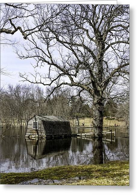 Concord Ma. Greeting Cards - The Old Manse Boathouse Greeting Card by Betty Denise