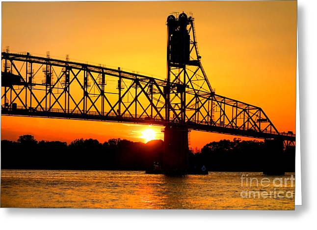 Roadway Photographs Greeting Cards - The Old Mighty Span Greeting Card by Olivier Le Queinec