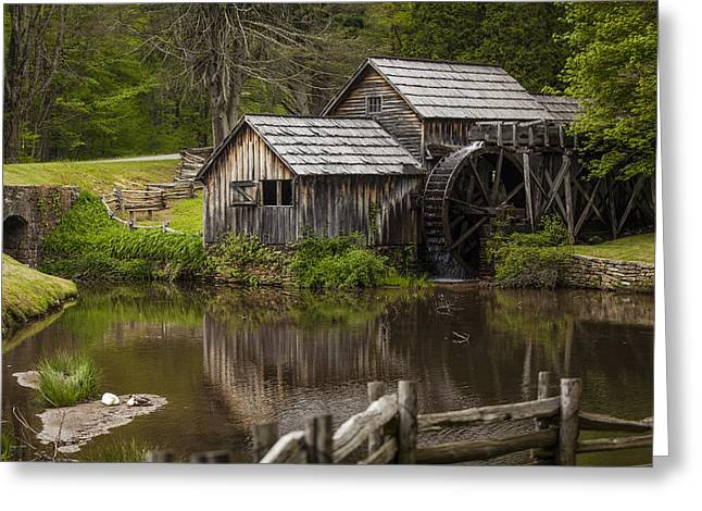 The Old Mill After The Rain Greeting Card by Amber Kresge