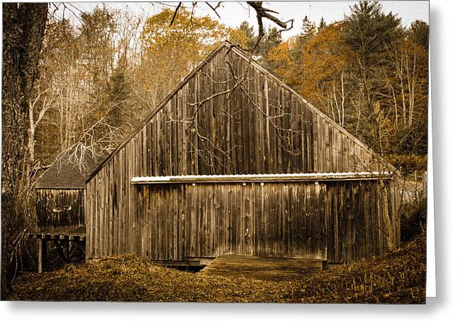 Old Maine Barns Greeting Cards - The Old Mill Greeting Card by Belinda Dodd