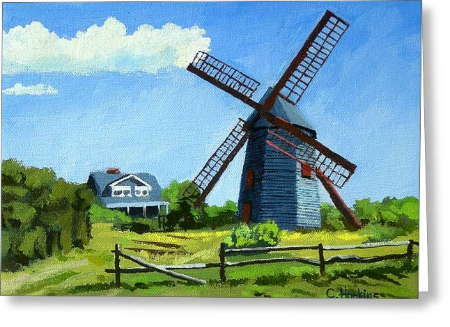 Recently Sold -  - Chatham Greeting Cards - The Old Mill Cape Cod Massachusetts Greeting Card by Christine Hopkins