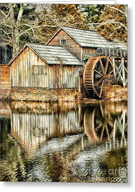 Reminiscent Greeting Cards - The Old Mill Greeting Card by Darren Fisher