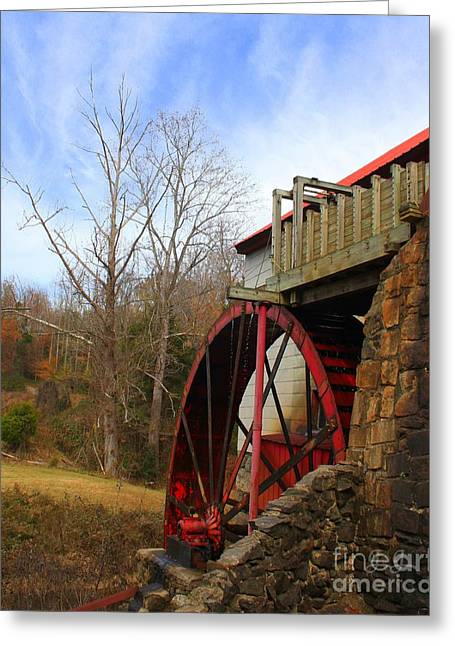 The Old Mill Greeting Card by Geri Glavis
