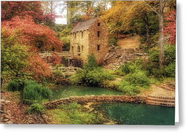 Jmpolitte Greeting Cards - The Old Mill in Autumn - Arkansas - North Little Rock Greeting Card by Jason Politte