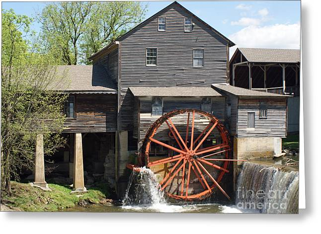The Old Mill in Pigeon Forge Greeting Card by Roger Potts