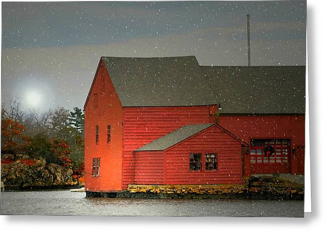 The Old Mill Kirby Pond Greeting Card by Diana Angstadt