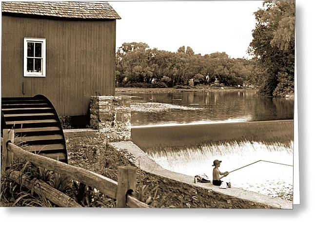 Another Time Greeting Cards - The Old Mill Greeting Card by Mike Flynn