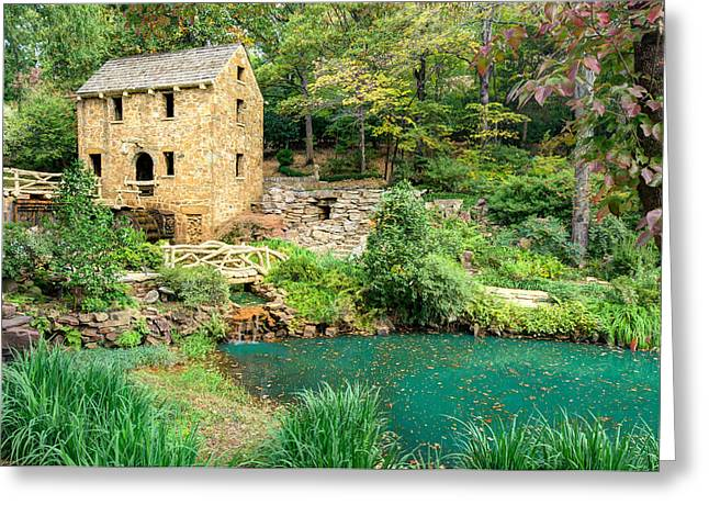 Grist Mill Greeting Cards - The Old Mill - North Little Rock - Pughs Mill 1832 Greeting Card by Gregory Ballos