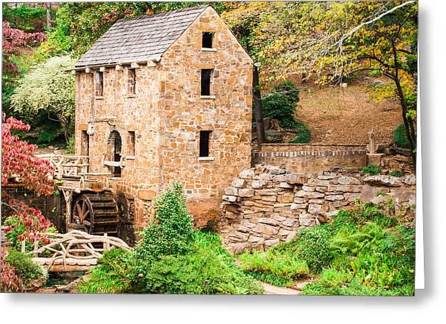 Arkansas Greeting Cards - The Old Mill - Pughs Mill in Little Rock Arkansas Greeting Card by Gregory Ballos
