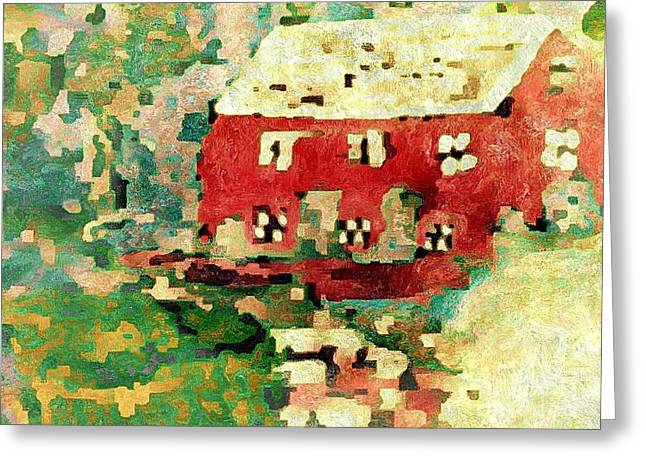 Grist Mill Greeting Cards - The Old Millhouse Greeting Card by Cindy McClung